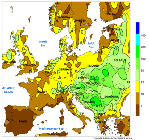 Total Precipitation in mm , May 11-17, 2014, computer generated contours, based on preliminary data. Source: NOAA.