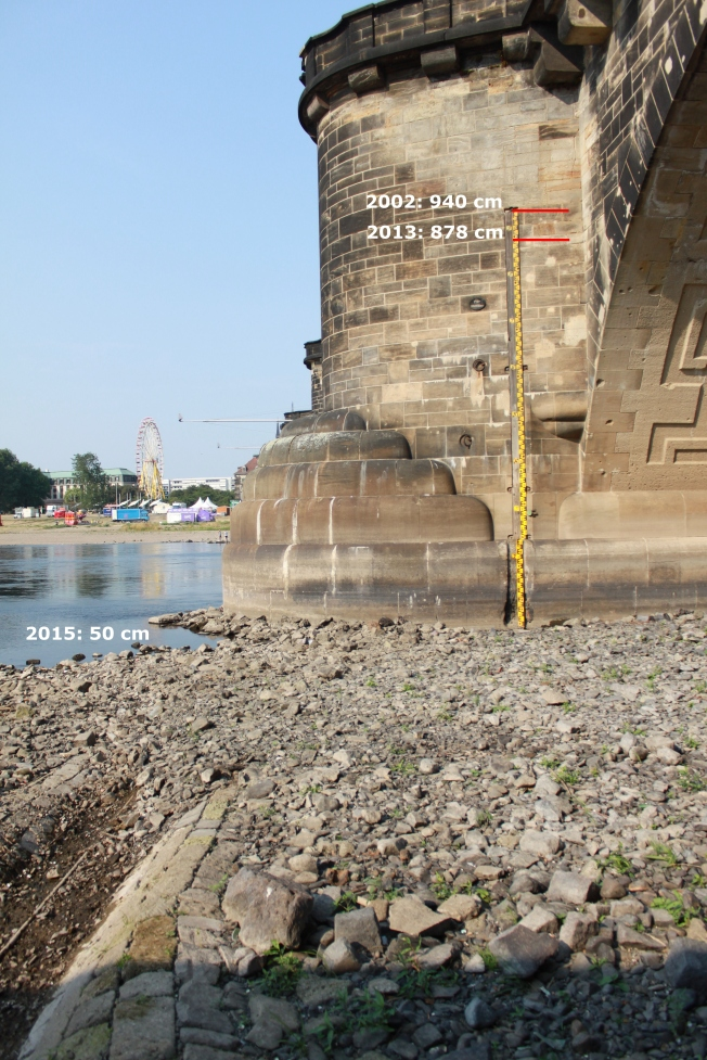Gauge Dresden/Elbe; 13 August 2015; W = 50 cm