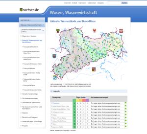 Ansicht des erneuerten LHWZ-Webportals.