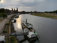 Elbe at Dresden on 23 August, 2018.
